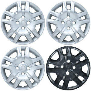 New 16 Silver Hub Caps set Of 4 Fits 2007 2012 Sentra Bolt On Wheel Covers