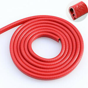 Red Car Door Edge Guard Trim Molding Rubber Seal Strip Scratch Protector 16ft 5m