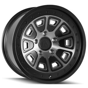 4 mayhem 8301 Flat Iron 17x9 6x5 5 12mm Black tint Wheels Rims 17 Inch