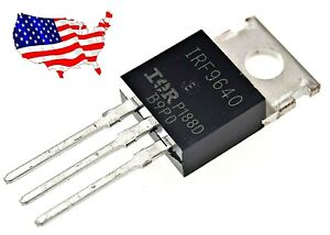 Irf9640 5 Pcs P channel 11a 200v To 220 Power Mosfet From Us