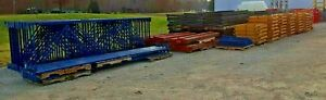 2 Deep Pushback Pallet Racking 3 High 210 Position Structural Lopro Rack