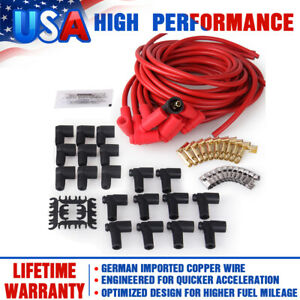 Super Performance Universal 8mm Spark Plug Wires Set For Graphite Core 90 4041