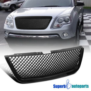 For 2007 2012 Gmc Acadia Abs Mesh Black Front Hood Grille Replacement