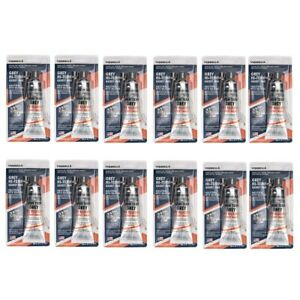 12 Pack Grey High Temp Rtv Silicone Gasket Maker Sealant Adhesive Oil Resistance