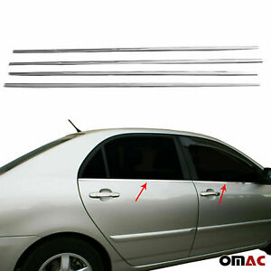 Fits Toyota Corolla 2003 2008 Chrome Window Frame Trim Cover S Steel 4 Pcs