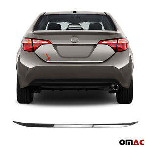 Fits Toyota Corolla 2014 2019 Chrome Tailgate Trunk Trim Moulding S Steel