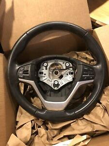 Sport Steering Wheel Black Leather 32306868762 Oem Bmw X5 X6 F15 F16 2014 18