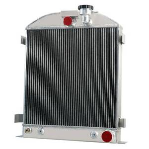 Asi 4 Row Radiator Fit 1933 1934 Chevy engine Ford grill shells 3 Chopped
