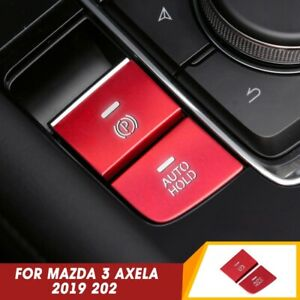 For 2019 2020 Mazda 3 Axela Gear Accessories P Gear Brake Hold Frame Trim Red