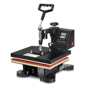 Vivohome Heat Press Machine 360 Swing Away Digital Sublimation T shirt Transfer