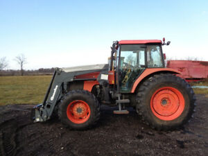 2007 Kubota M95s Tractor Cab heat air 4wd Quicke Q45 Front Loader 3 318 Hrs