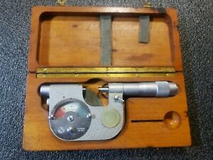 Swiss Etalon Rolle 0 1 Inch Indicating Micrometer 0001 Jeweled