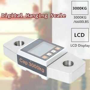 Portable Travel Lcd Digital Hanging Luggage Suitcase Scale Weight 3000kg 6600lbs