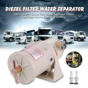 500fg Fh Diesel Filter Water Separator Trucks Fuel Racor Marine Boat M14 Screw