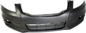 Primed Front Bumper Cover Replacement For 2011 2012 Honda Accord Sedan