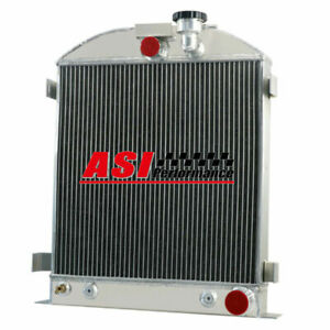 Asi 3 Row Aluminum Radiator Fit 1932 1934 1939 1940 Ford Grill Shells 3 Chopped