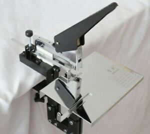 Manual Dual Flat Nail Saddle Stitch Stapler Binding Machine Staple Size 23 12 24