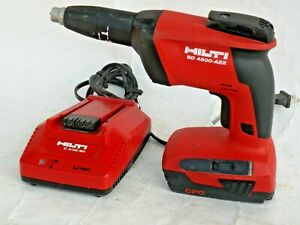Hilti Sd 4500 a22 Cordless Drywall Screw Driver Charger B22 2 6ah Battery