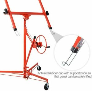 Large Red Drywall 11 Lift Panel Hoist Dry Wall Jack Lifter Construction Tools