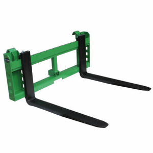 42 Pallet Fork Attachment With 2 Trailer Receiver Hitch Fits John Deere Loader