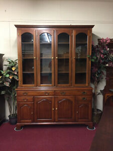 Henkel Harris Cherry China Cabinet Or Bookcase Delivery Available