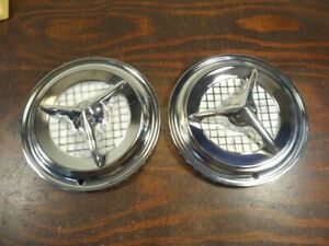 2 New Crossbow Checkered Wheel Cover Hub Cap Olds Fiesta 14 S246