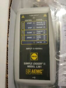Aemc L261 2126 05 Simple Logger Ii True Rms Datalogger 1 channel 600v Ac dc