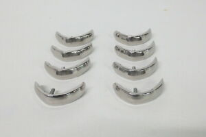 1958 58 Chevy Chevrolet Impala Lower Rear Quarter Louvers Set Of 8 Stainless