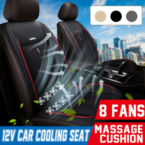 12v Car Seat Cushion Cover Pad Cushion Air Cooling Fan Cooler Massage Pu Leather