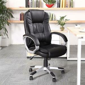 Belleze High Back Executive Pu Leather Padded Manager s Office Chair black