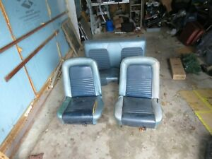 Very Nice 1965 1967 1966 Mustang Seat Set Front Seat Back Seat Oem Used Coupe