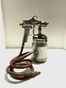 Vintage Devilbiss Type Mbc Paint Spray Gun And Hose Tip No 58