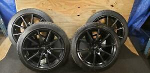 15 18 Ford Mustang Shelby Gt350 10 Spoke Set 19 Wheels Michellin Good Tires