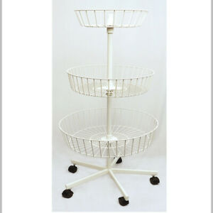 3 Baskets Revolving Clothes Display Rack
