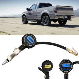 Digital Tire Inflator With Pressure Gauge 200 Psi Air Chuck For Truck car bike