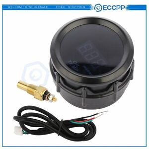 2 Digital Oil Temperature Gauge With Sensor Gauge Kit 40 150 C Black Sensor