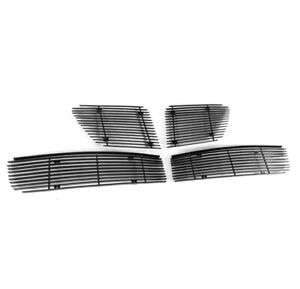 For 08 09 Pontiac G8 Upper Bumper Lower Billet Grille Grill Insert Combo Black