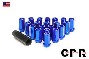 Cpr Close Ended 17hex Steel Racing Wheel Lug Nuts Performance Blue 12x1 5 20p