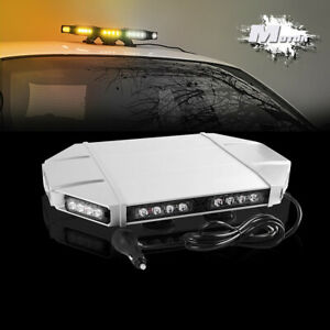23 Double Side Amber White 38 Led Emergency Strobe Light Bar For Truck Trailer