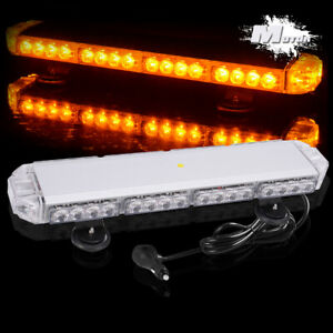 38 Led Light Amber Flashing Emergency Warning Strobe Light Bar Roof Top Yellow