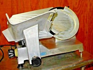 Berkel Manual Gravity Feed Slicer With 12 Blade And Sharpener Model 827