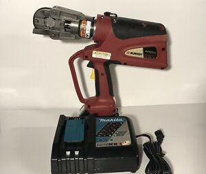 Burndy Patriot Pat600 li 6 Ton Hydraulic Crimper W Battery And Charger
