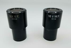 Nikon 10 X W f Ao 180 Microscope Eyepiece Set Of 2
