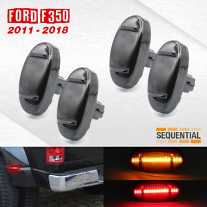 2011 2018 Ford F250 F350 F450 Led Sidemarker Sequential Smoked Lens Amber Red