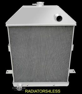 New Champion 4 Row All Aluminum Radiator 1941 Ford Truck Pickup Ford Engine