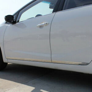 Stainless Side Door Body Moulding Strip Cover For Kia Forte Cerato 2014 2016