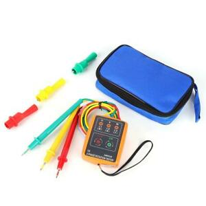 3 Phase Ac Sequence Meter Rotation Indicator Detector Tester Double Insulation