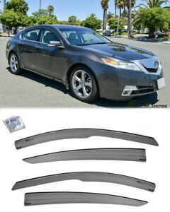 Tape On Visors For 09 14 Acura Tl Jdm Mugen Style Side Vents Window Rain Guards