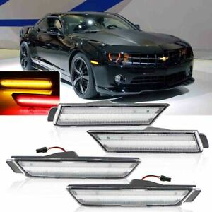Clear Lens Front Amber Rear Red Led Side Marker Lights For 2010 15 Chevy Camaro