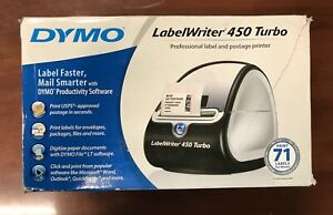 Dymo Labelwriter 450 Turbo Thermal Label Printer Shipping 1752265 Brand New